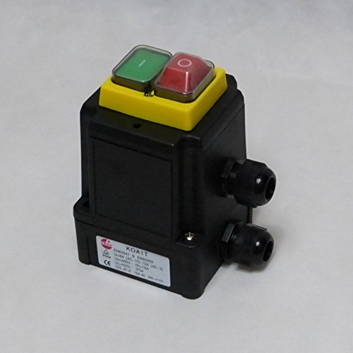 BUZE Orginal KEDU KOA1T Schalter 400V mit Notaus, Thermoschalter Anschluss, Unterspannungsauslöser