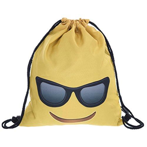 Bag gymtas emoticon zonnebril buideltas hipstertas gymtas festival tas