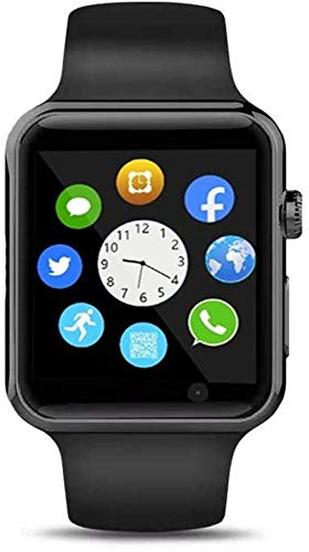Qidoou Smart Watch Fitness Tracker,Smartwatches Compatible Android iOS Touchscreen Step Calorie Sleep Sedentary Monitor Waterproof, Call Message Music with SIM SD Slots Men Women (Black1) Electronics Features Smartwatches