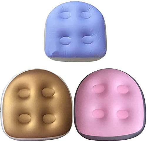 Spa Booster Kissen, Rückenpolster Spa-Kissen, Whirlpool-Sitzkissen mit Saugnäpfen Aufblasbares Sitzkissen für Spas, Whirlpools (Blau+Rosa+Golden)