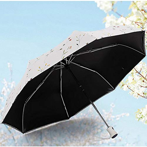YAN Automatischer Regenschirm-faltender Sonnenschirm-weiblicher Anti-Uv-Doppel - Gebrauch Vinyl Sun-Regenschirm