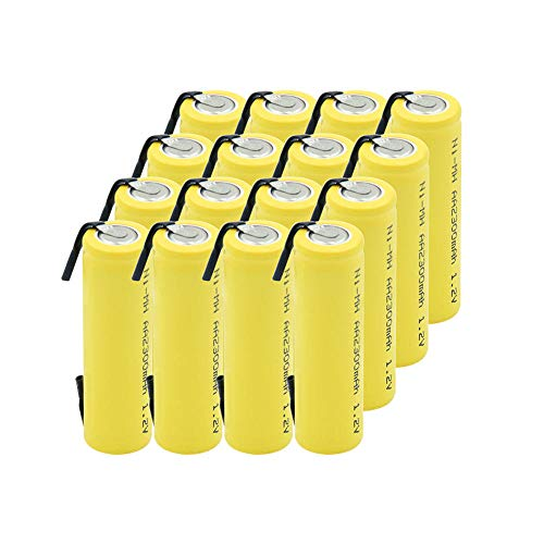 mrwellog Batería Recargable de 16 Piezas 1,2 V 2300 mAh UM3 HR6 MN1500 15A 15AC 4006 para Juguetes de antorcha de Afeitar-como Muestra la Imagen