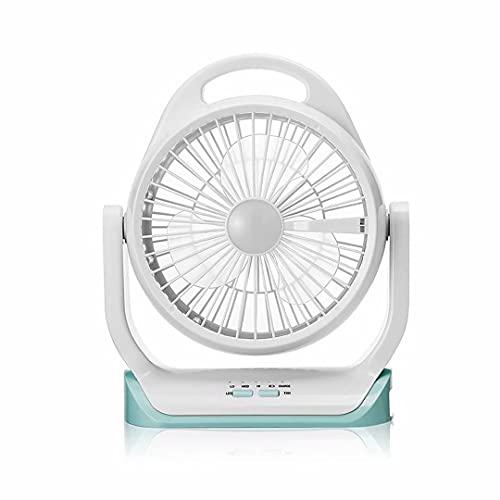 Ventilador de escritorio USB sin cables,ventilador de mesa con fuerte flujo de aire,ventilador de refrigeración con cabezal giratorio de 360°,3 velocidades/2 luces de noche,ventilador de torre