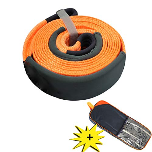 Find Discount DHPTCS Traction Rope, 6 m 15 tons, Heavy Recovery Trailer Belt, Ideal for Pulling cart...