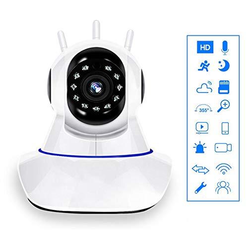 LLEH Überwachungskamera, 1080P HD mit Nachtsicht, Zwei-Wege-Audio, Aktivitätsalarm, Fernanzeige, TF-Speicherkarten-Cloud-Speicher + 16 GB Speicherkarte