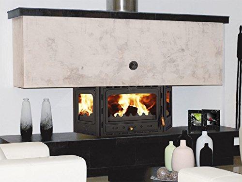 Tablero de combustión de madera chimenea Insertar Multi combustible construido en hierro fundido puerta Prity аtc
