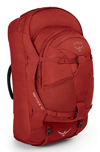 Osprey Farpoint 70 Men's Travel Pack with 13L Detachable Daypack - Jasper Red (S/M)