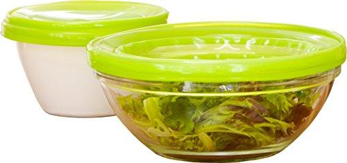 LidLover pour Aliments avec couvercles pour Bols/Micro-Ondes/Four/Pots, en Silicone, 5–9