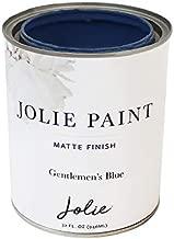 Jolie Paint - Premier Chalk Finish Paint - Matte Finish Paint for Furniture, cabinets, Floors, Walls, Home Decor and Accessories - Water-Based, Non-Toxic - Gentlemen's Blue - 32 oz (Quart)