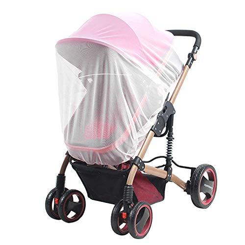HaiQianXin Waterdicht, Winddicht Bescherming Regen Stretchy Honycomb Zeshoekige Cover Muggen Netto Kinderwagen Regenhoes Baby Muggennetje Reistvriendelijk voor Buiten Binnen (Kleur: Wit)