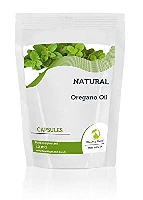 Oregano Essential Oil 25mg Food Supplement 30 Capsules Nutrition Supplements HEALTHY MOOD from Healthy Mood