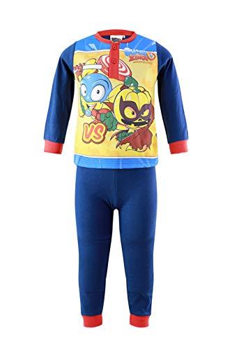 Super Zings - Niño – Pijama Premium juego de camiseta de manga larga y pantalón en caja de regalo – Algodón – Otoño Invierno, Azul 1503, 3 años