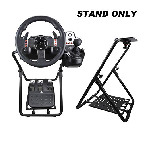 DWDZ Racing Steering Wheel Stand Collapsible&Tilt-Adjustable Racing Stand for Thrustmaster,Logitech G25,G27,G29,G920, Supporting TX,Xbox,PS5,PC(Wheel&Pedals Not Included)