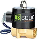 3/8' Electric Solenoid Valve 12-VDC, VITON Gasket, Air, Gas, Fuel Normally Closed