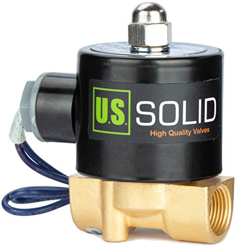 3/8' Electric Solenoid Valve 12-VDC, VITON Gasket, Air, Gas, Fuel...