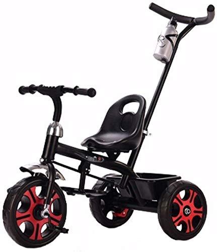 Poppenwagen kinderen trikes peuterbike 2-in-1 push-and-ride pazi-accessoire tricycle peuter fiets kleine kinderen voor 1 jaar tot 5 jaar 4 kleuren geschikt voor kinderen in de leeftijd van 1 tot 3 tot 5 babyartikelen