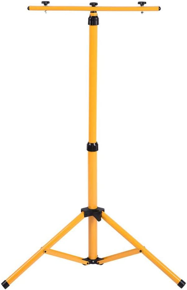 New products, world's highest quality popular! Adjustable Max 61% OFF Work Light Tripod Twin Telescopic Head Stand