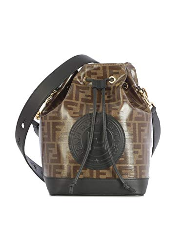 Luxury Fashion | Fendi Dames 8BT298A5KCF14TU Bruin Leer Schoudertassen | Lente-zomer 20