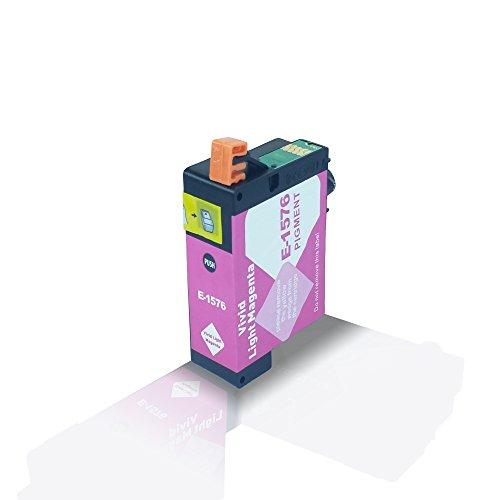 Kompatible Tintenpatrone Light Magenta für Epson Stylus Photo R3000 R 3000 Hell Magenta T1576 T 1576 C13T15764010 - Eco Office Serie