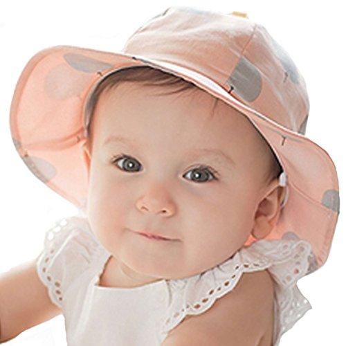Millya Chapeau de soleil à bord pour enfant UPF 50+ avec mentonnière (M: 9 m – 24 m) - - 24 mois
