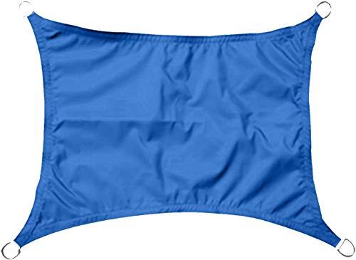 LanXin Patio Azul Anti-UV Toldo de Vela - 3.6x3.6x3.6m Triángulo - Gazebo Vela Toldo Toldo, Tamaño Nombre: 3m Triángulo (Tamaño Personalizable) (Size : 3x2m Rectangle)