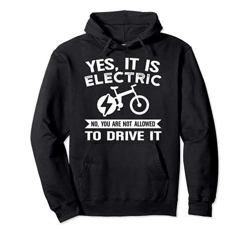 Sí, es electirc bike e-bike Sudadera con Capucha