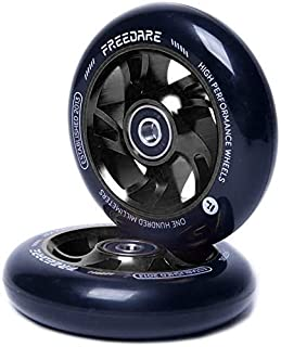 FREEDARE Scooter Wheels Replacement 2Pcs Pro Stunt Scooter Wheels with ABEC Bearings (Pack of 2)