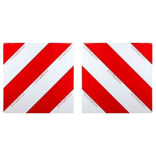 Warntafel Set, links + rechts, 423 x 423 mm, 1220127, gepfalzter Rand, Zulassung für LKW, Auto, Motorrad, etc, Warntafeln, Autozubehör, reflektierend