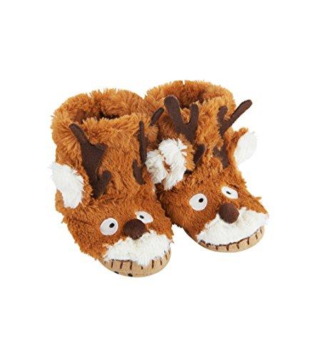 Hatley Unisex Kids Animal Hi-Top Slippers, Brown (Brown Reindeer 200), S (22-24 EU)