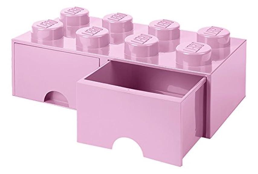 便宜マイクロくしゃくしゃレゴ(LEGO) 収納ケース?ボックス ライトパープル 500×250×180mm 40061738