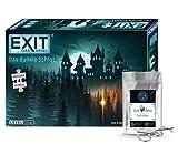 EXIT Das Spiel + Puzzle - Das SchwarzSchloss, Nivel: Einsteiger, Escape Room Juego con Puzzle + 1 x Metall-Knobelei
