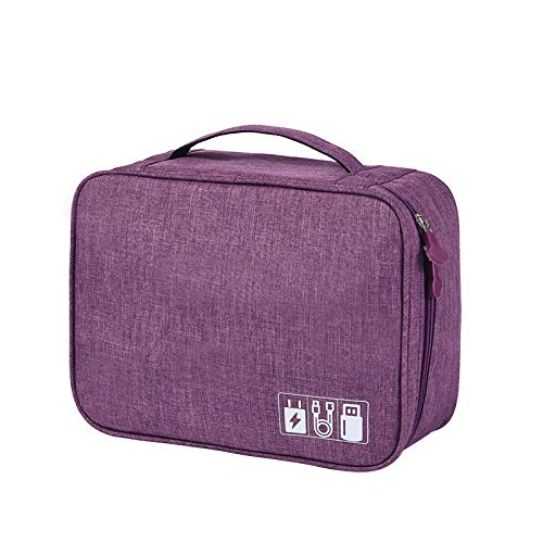 luckymeet Digital Product Storage Bag, Multifunctional Polyester Material Storage Bag, Light And Easy To Carry, Used To Collect And Store Various Digital Products 紫色