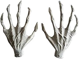 Asdomo Halloween Hands, Plastic Hands Halloween Witch Hands Haunted House Horror Props Halloween Decorations,Ghost House S...