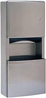 Bobrick B-43699 ConturaSeries Surface-Mounted Paper Towel Dispenser / Waste Receptacle with TowelMate and LinerMate