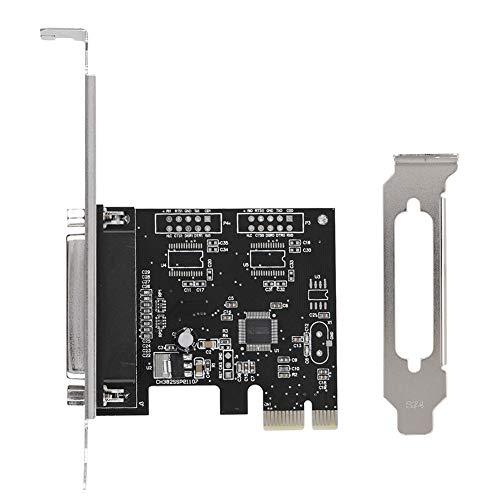 Tarjeta de puerto paralelo PCIE, Tarjeta de puerto PCIE a paralelo Puerto de impresión LPT Adaptador de tarjeta de impresora LPT PCI-E DB25, Tarjeta de expansión PCI a DB25 LPT Puerto paralelo para Wi