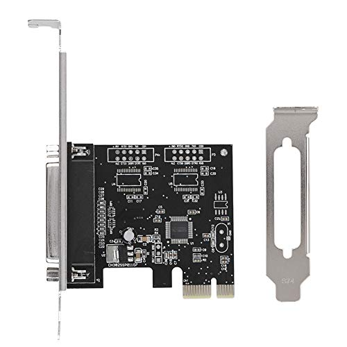 PCIE-naar-DB25-LPT parallelle poort uitbreidingskaart met low profile beugel, PCI parallelle poort converter adapter controller voor printers, programmeurs, scanners, DOS-ondersteuning, Windows 8/7 / Vista / X
