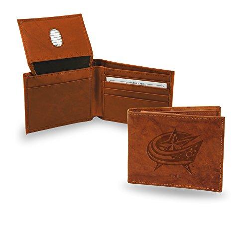 NHL Rico Industries Geldbörse aus geprägtem Leder, Columbus Blue Jackets