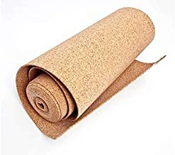 a grana fine antistatico Rotolo di sughero 8 mm x 1m supercompresso per varie applicazioni fonoassorbente sughero naturale di alta qualit/à per la hobby 2m2 casa e lufficio.