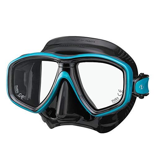 TUSA M-212 Freedom Ceos Scuba Diving Mask, Black/Ocean Green