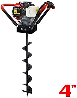 XtremepowerUS 1-Person Post Hole Digger V-Type 55CC 2 Stroke Gas One Man Auger EPA Motor..