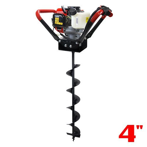XtremepowerUS V-Type 55CC 2 Stroke Gas Post Hole Digger 3/4' Shaft 1-Man Auger Powerhead (Digger +...