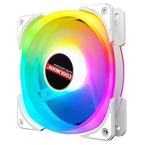Coolmoon - Ventilador de levitación magnética de alta presión de bajo ruido, 120 mm, pequeño ventilador de refrigeración de 6 pines, chasis de escritorio ARGB silencioso