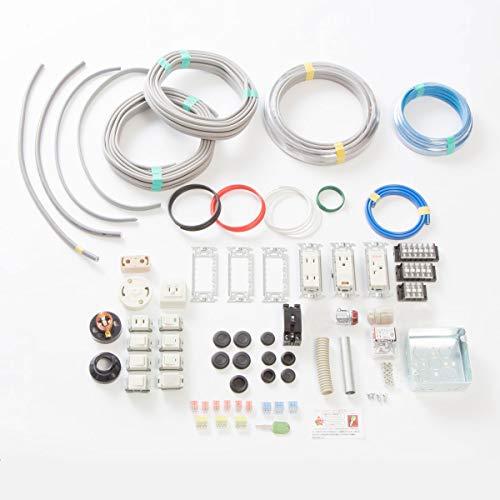 第二種電気工事士技能試験セット モズシリーズ 電線器具のダブルセット 13問電線1回分と配線器具1式