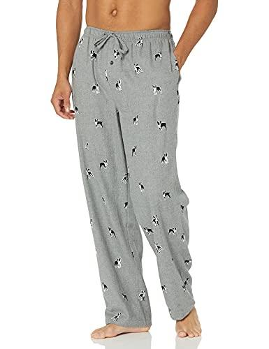 Amazon Essentials Men's Flannel Pajama Pant, Grey Dog Print, XX-Large