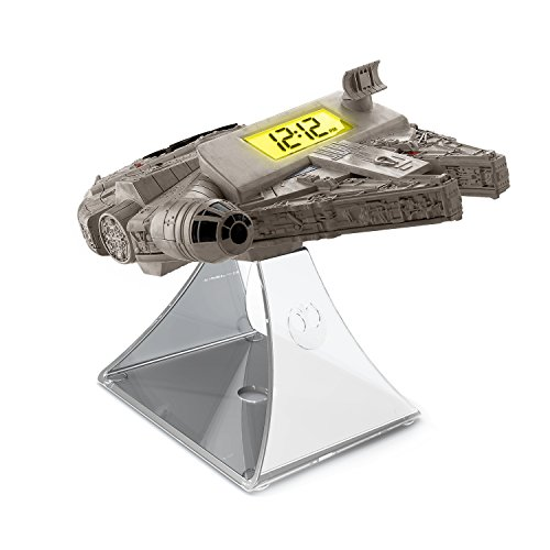 EKids Star Wars Millennium Falcon Night Glow Radio Wekker