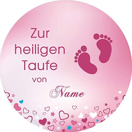 Tortenaufleger Taufe2 rosa/ 20 cm Ø