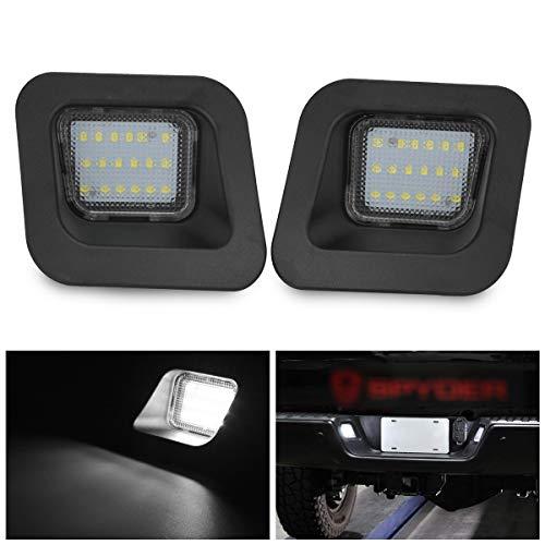 KATUR Luz de matrícula LED Extremadamente Brillante 6000K Conjunto de lámpara de luz Blanca de Diamante Reemplazo de Canbus Incorporado para Dodge RAM 1500 2500 3500 2003-2018 Camioneta
