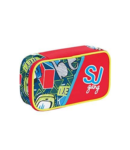 SEVEN S.P.A. ASTUCCIO scuola - SJ BOY - QUICK CASE - Rosso - pennarelli matite gomma ecc.