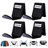 OAPRIRE Game Controller Wall Mount Holder Stand (4 Pack) for Xbox ONE PS4 PS5 STEAM Switch PC, Universal Gamepad Controller Accessories with 4 Cable Clips - Create Exclusive Game Fortresses - Black