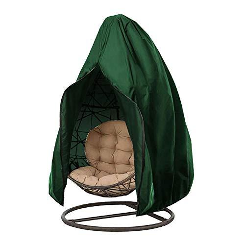 Schutzhülle für gartenstühle Wasserdicht Winddicht - Gartenstuhl abdeckung UV schutz Oxford polyester für gartenmöbel für gartenstuhl(115 x 190 cm, Grün)